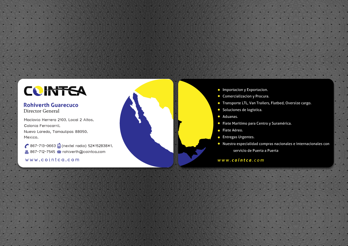 COINTCA BUSINESS CARDS - Transportation
