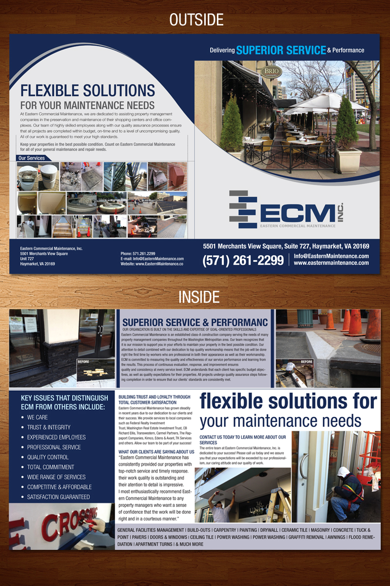 Brochure for a commercial maintenance company - Construction
