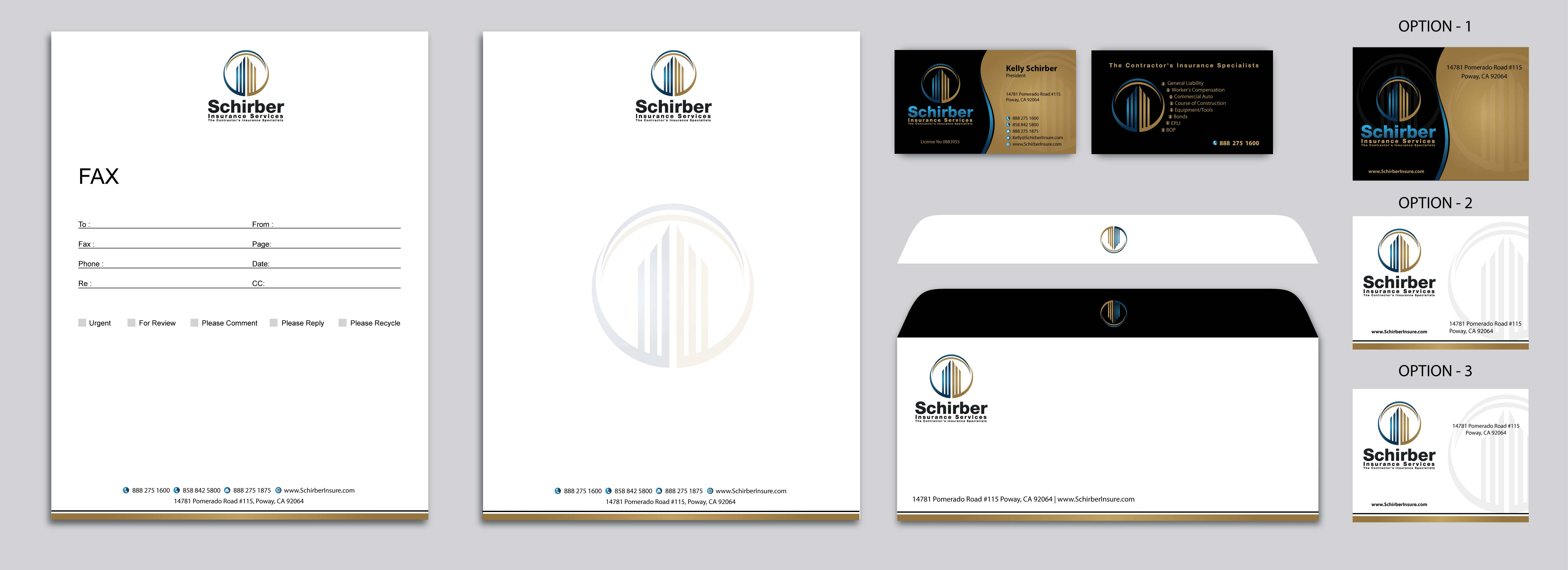 Stationery w/Business Card for Insurance Broker - Financial Services