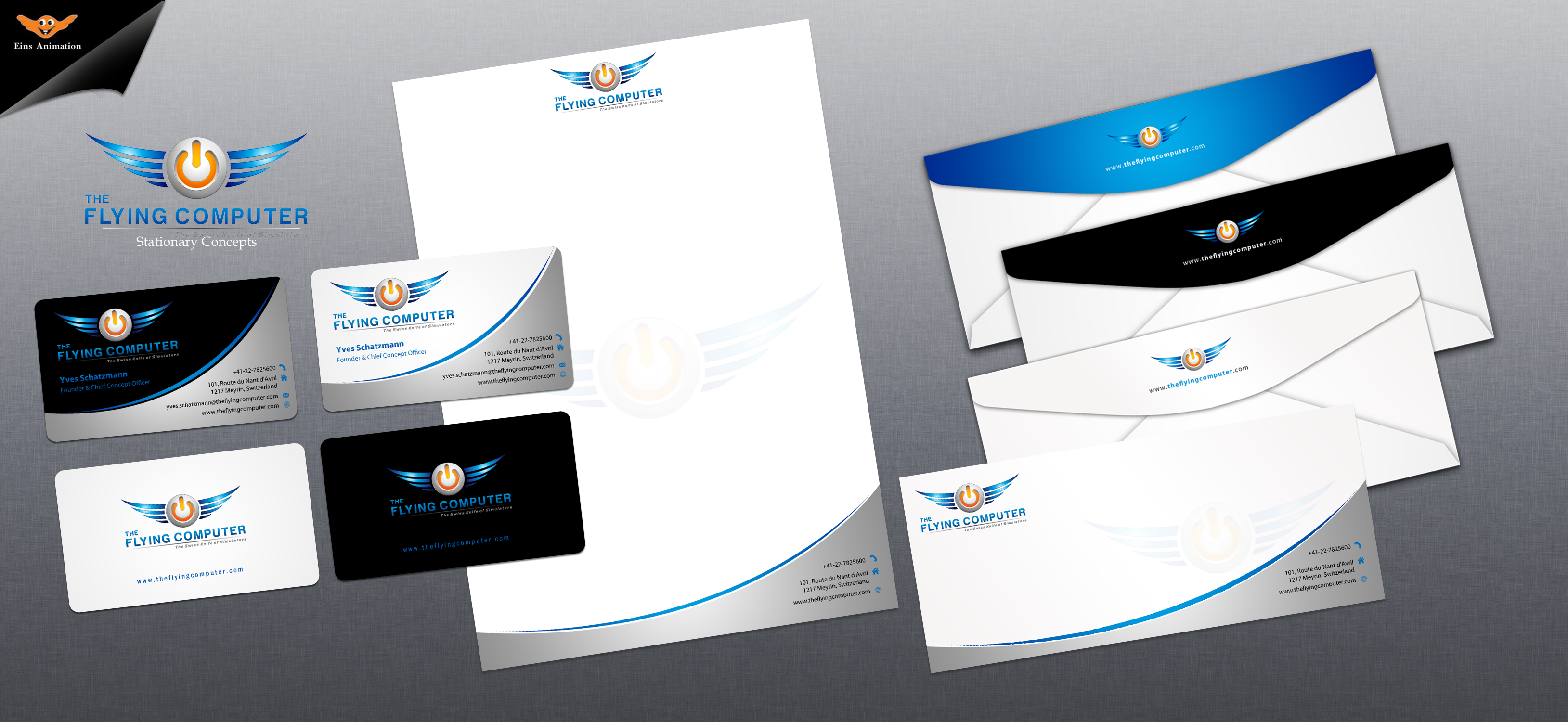 Business Card for a Flying Simulator Company - Computers