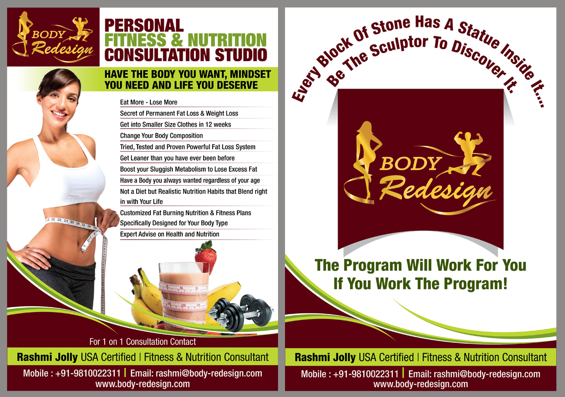 1 Page Flyer for Fitness & Nutrition Consultant - Health