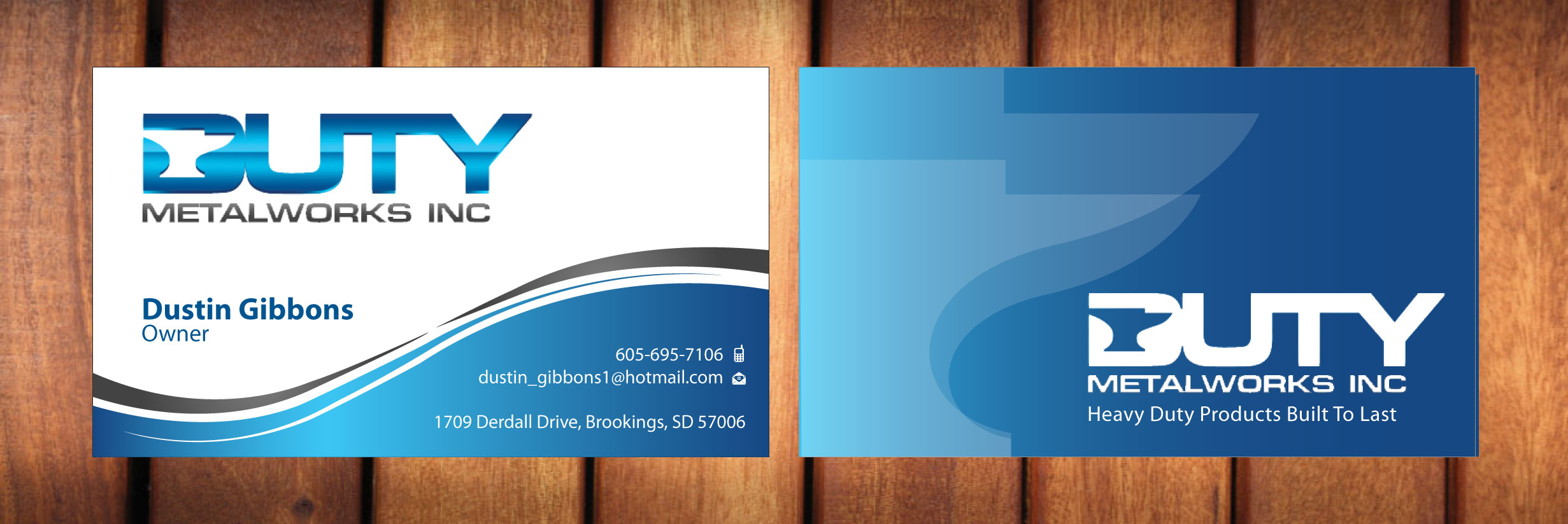 Business Card Design - Manufacturing