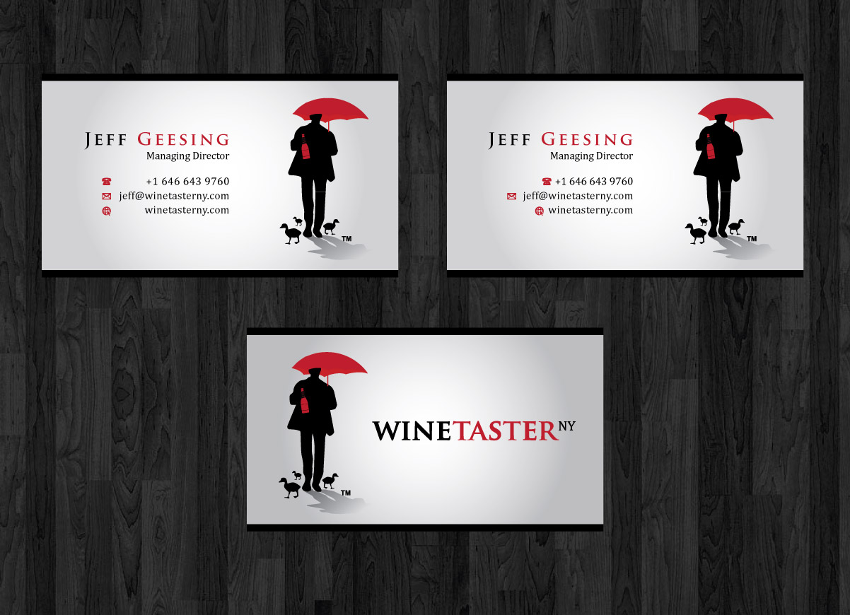 RESTRICTED CONTEST: Winetaster NY Business Cards - Beverages