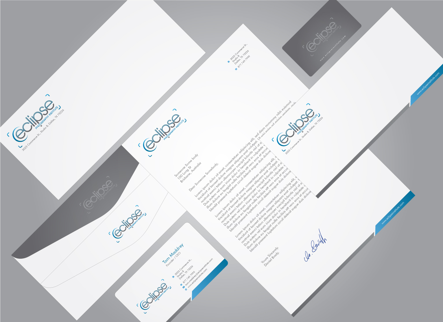 Business Card and Stationary for Photography Education Company - Photography