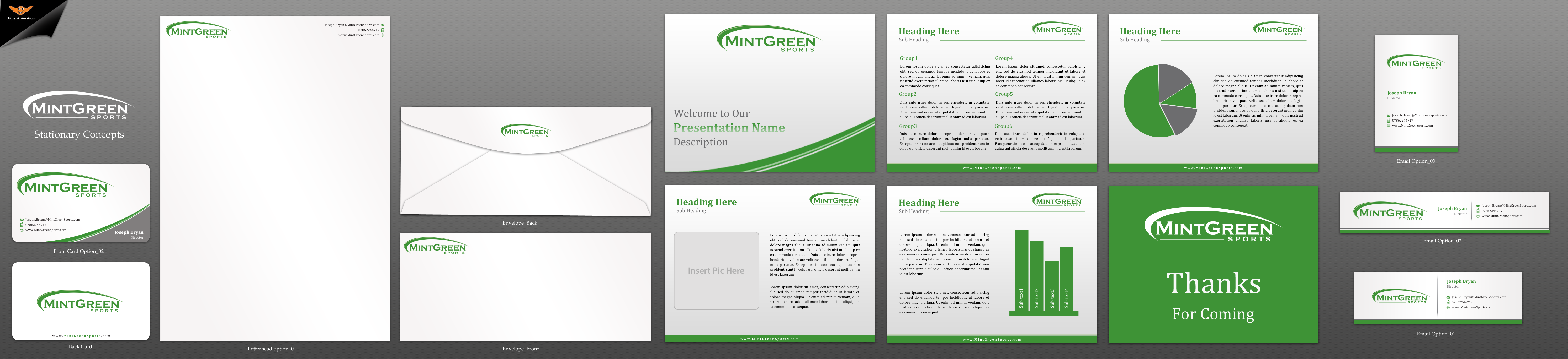 Mint Green Sports - business package - Financial Services