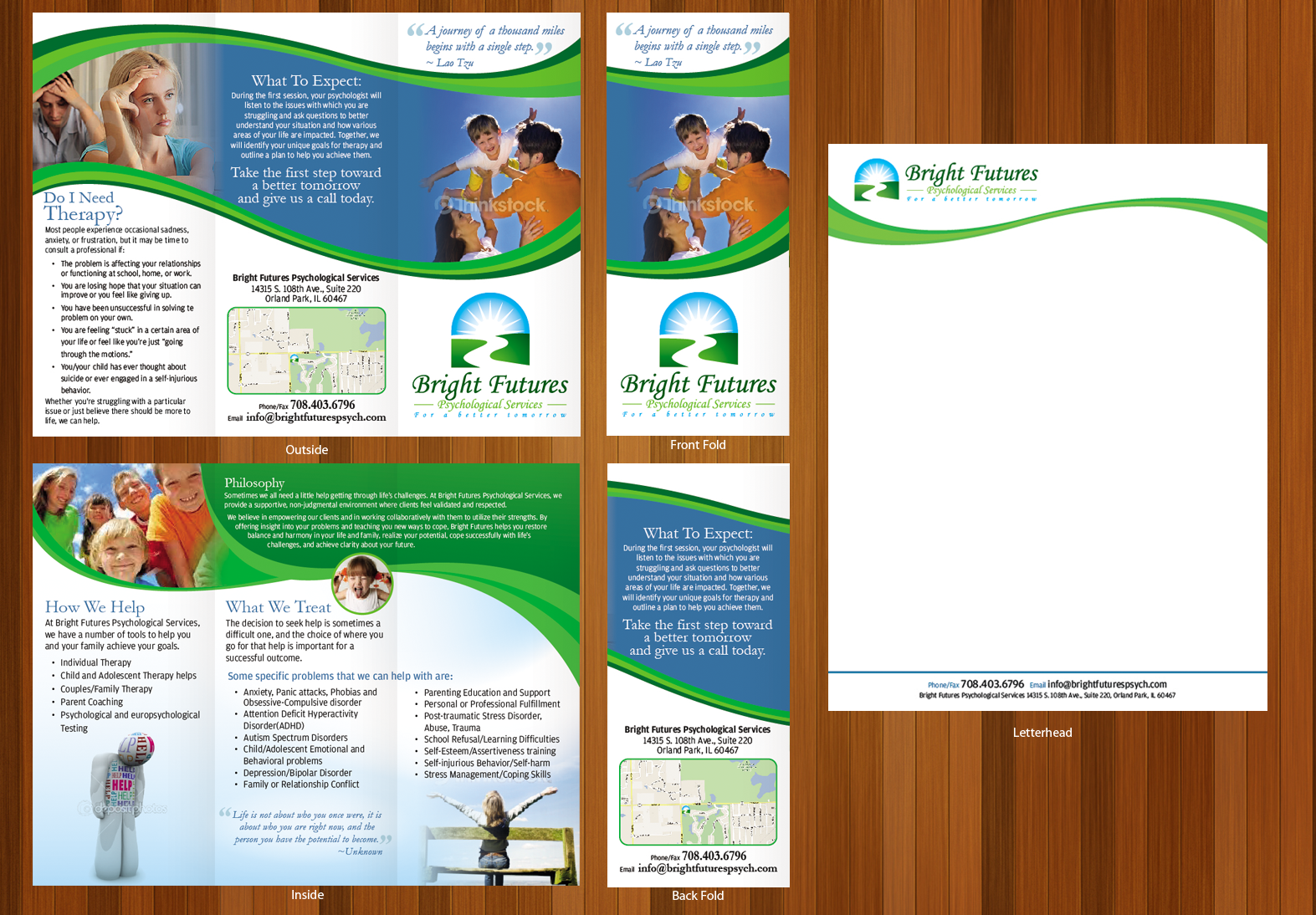 Psychology Practice Brochure and Letterhead - Health