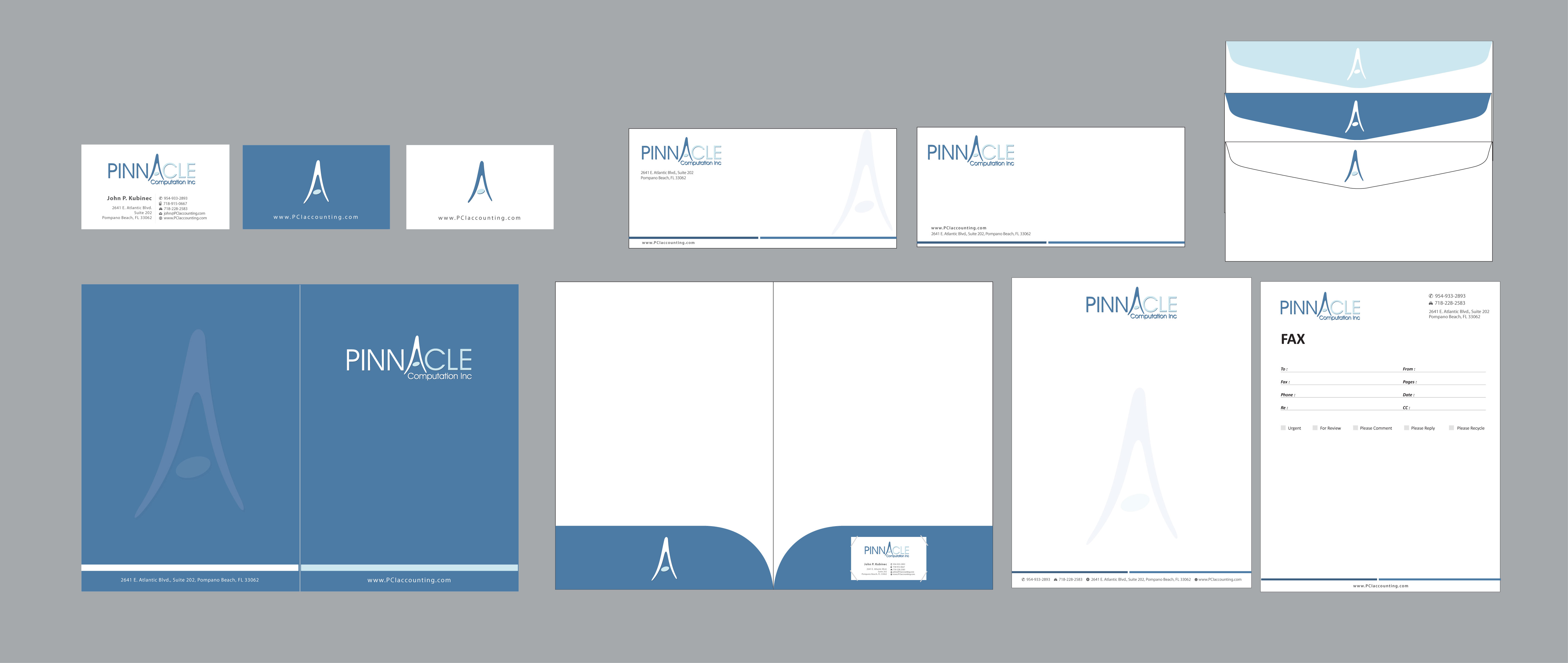 Accounting Firm - Biz Cards, Folders & Stationary - Financial Services