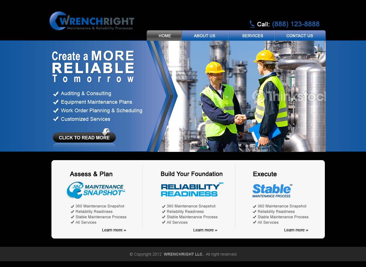 Website for Industrial Maintenance Consulting Firm - Consulting