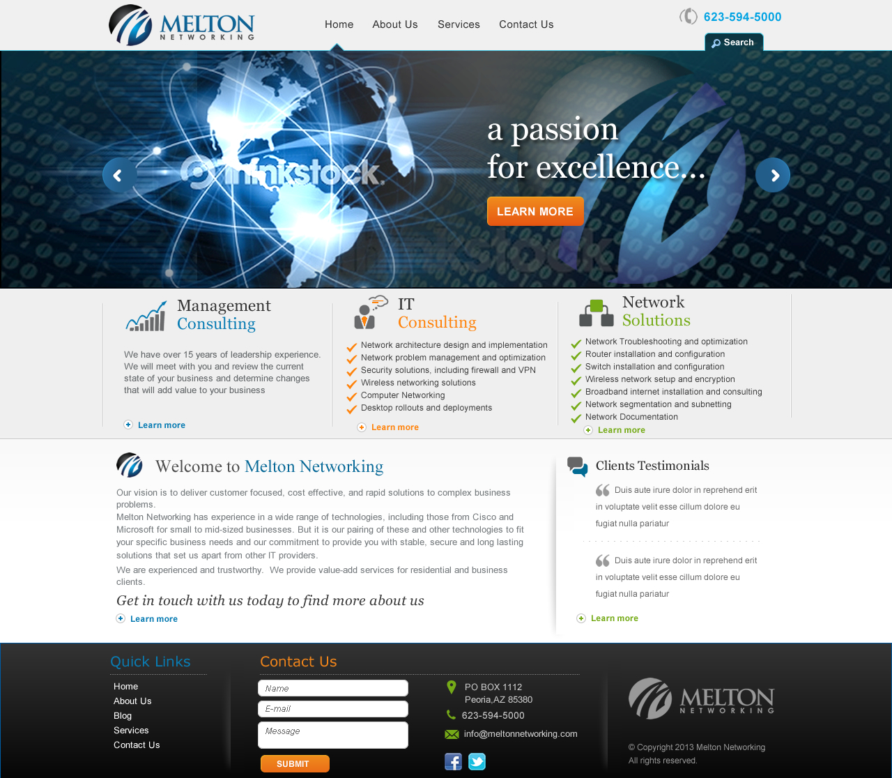 Website for Management / IT Consulting Company - Consulting