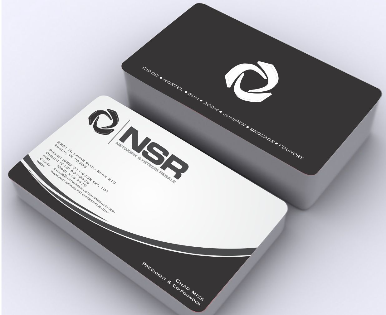 Business Card for Tech Company - Industrial Supplies