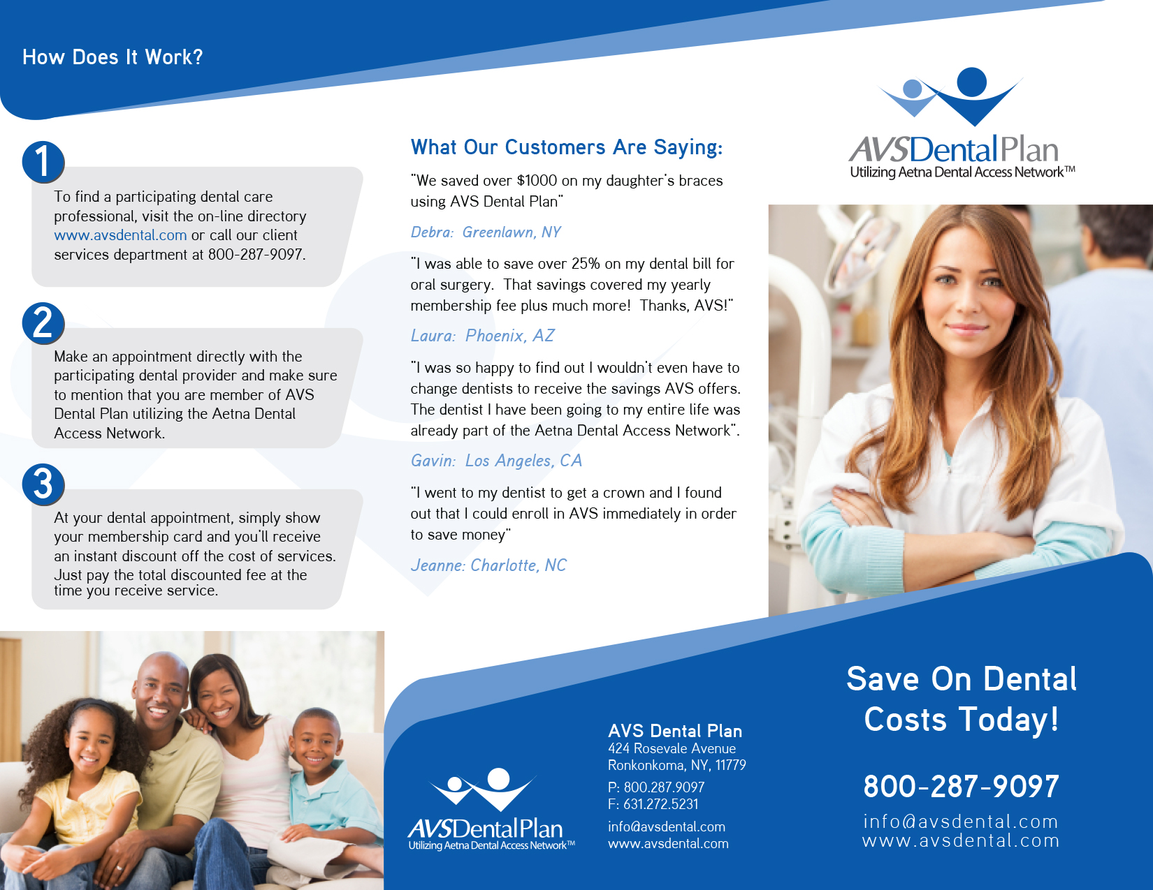 Tri-fold discount dental plan brochure - Health
