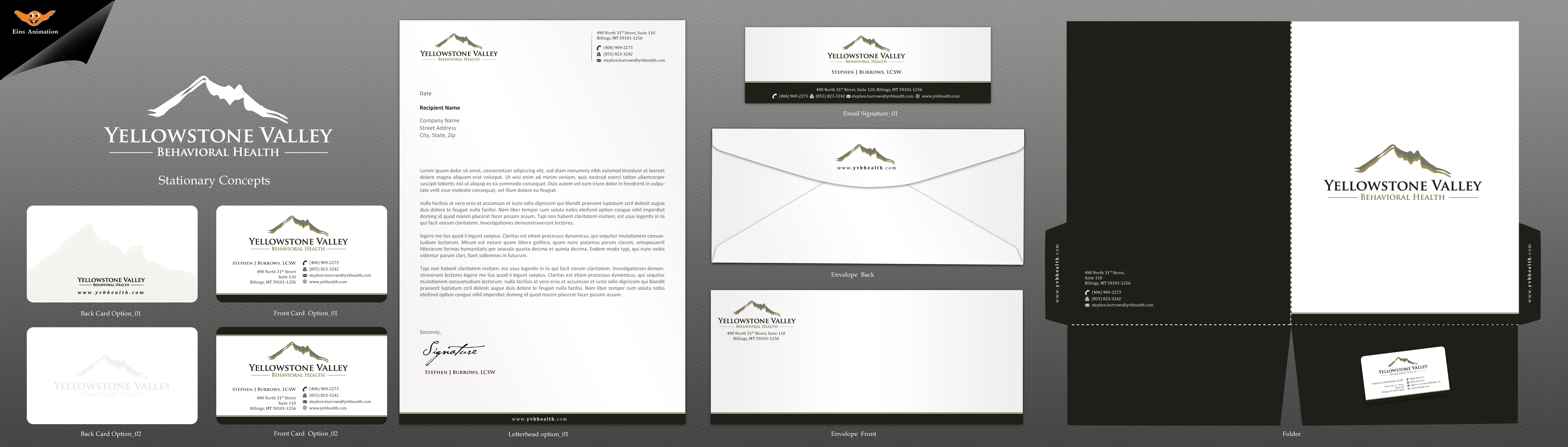 Cards and Stationary logo for behavioral health organization - Health