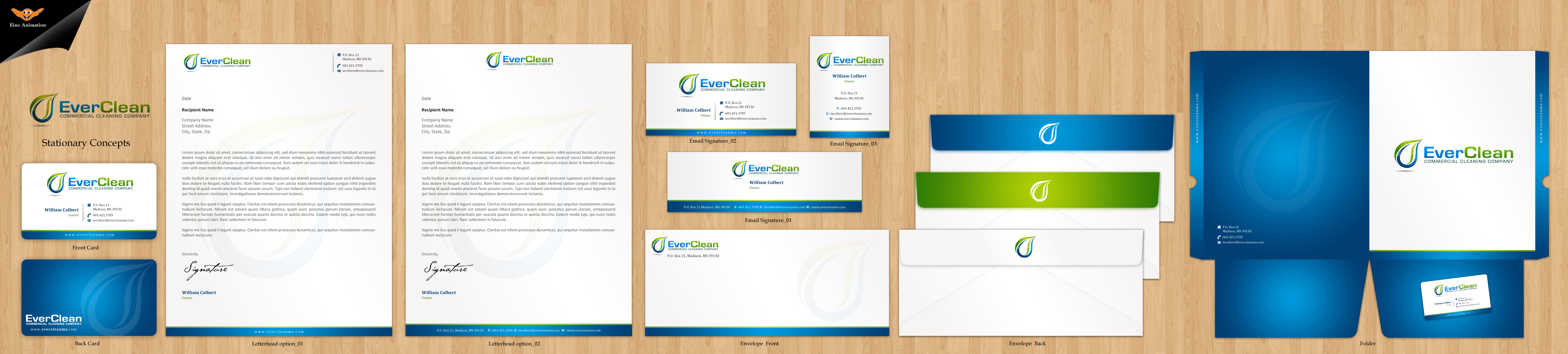 Business Cards and letterhead - Cleaning