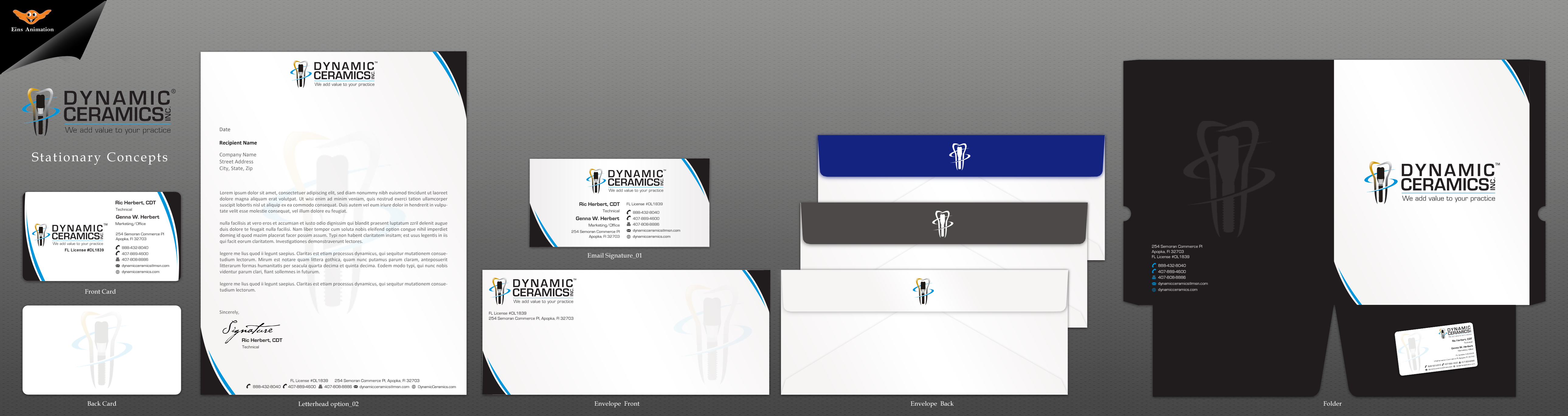 Business Cards & Stationary for Dental Laboratory - Medical