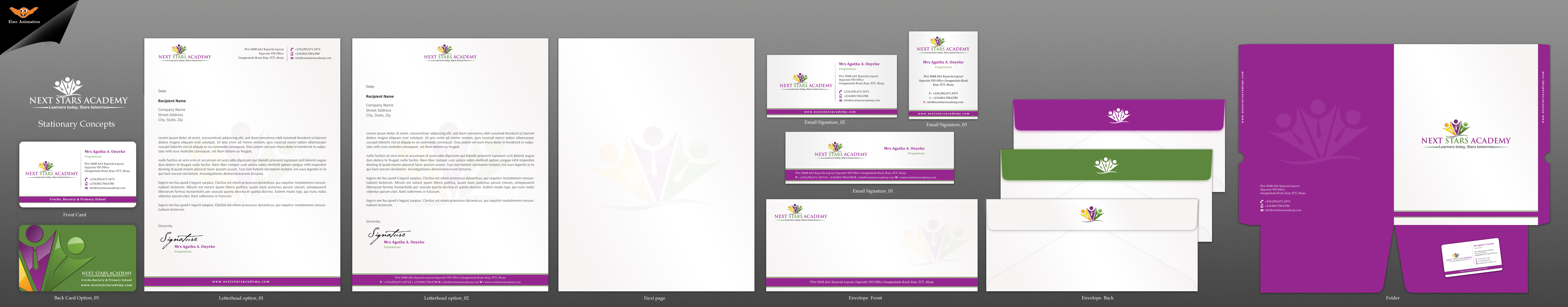 Business card and stationery for School - Education