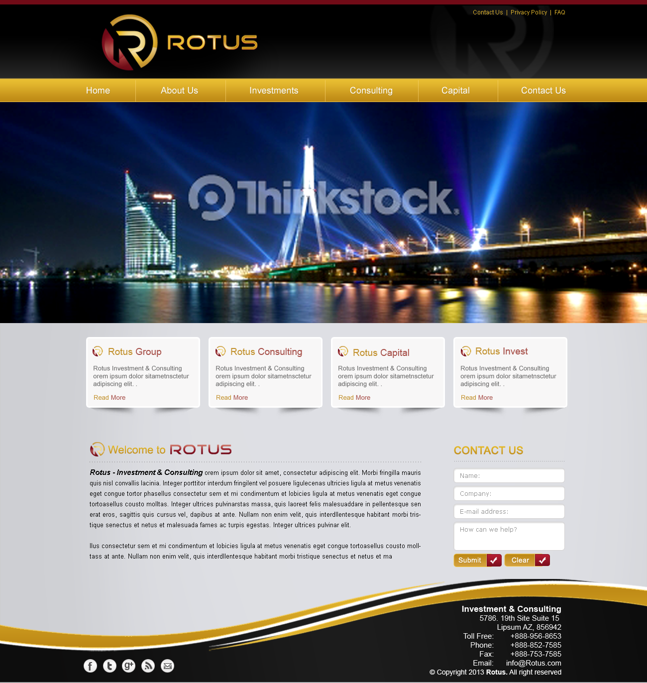 Rotus Website Wordpress Template - Consulting