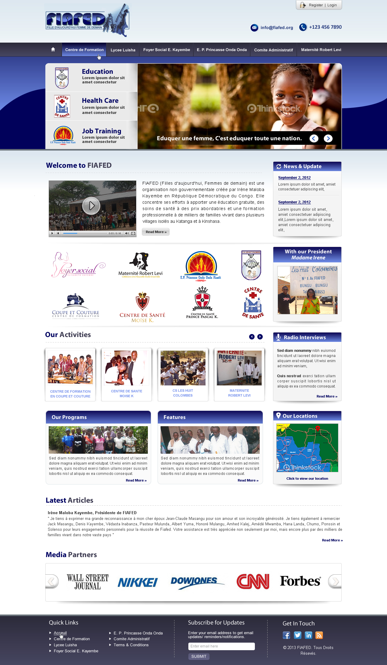 Revamp existing website with multiple logos and pictures - Education