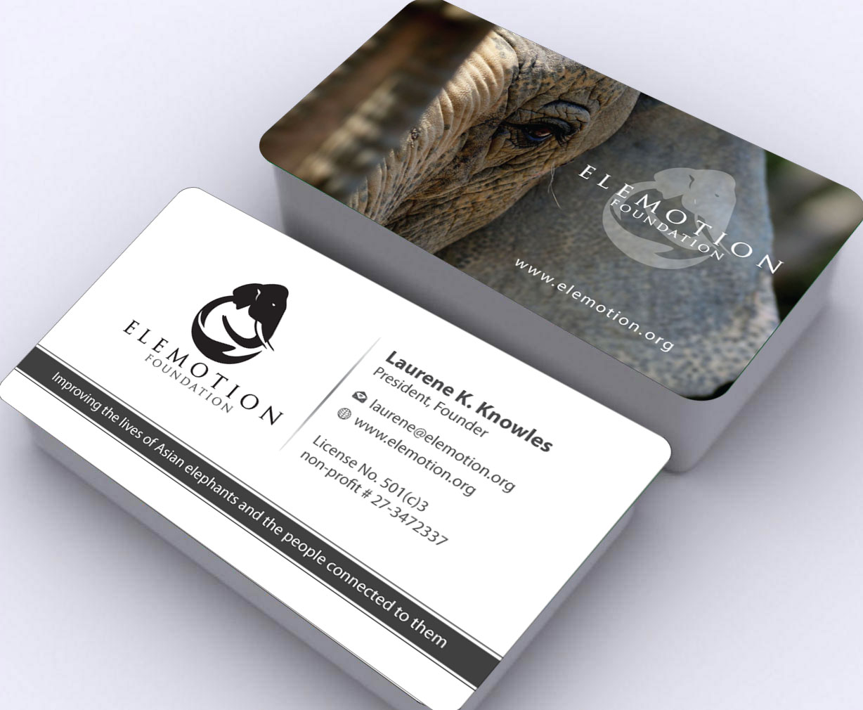 Business cards for modern animal non-profit organization - Animals