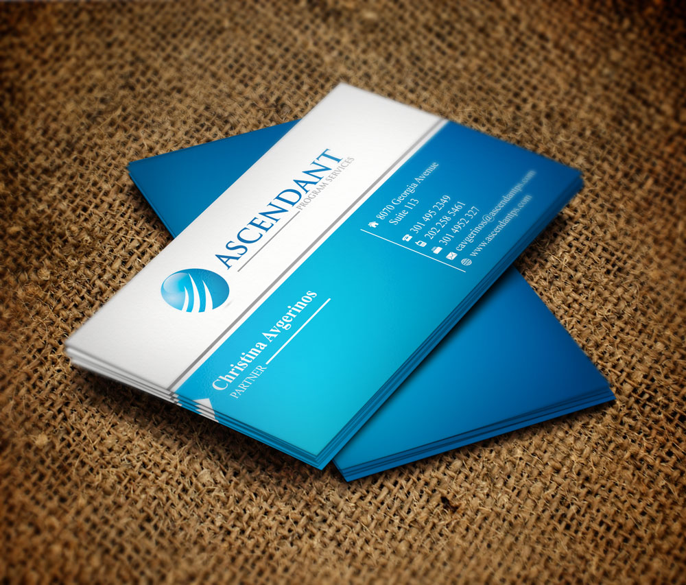 Modern Business Card Design - Consulting