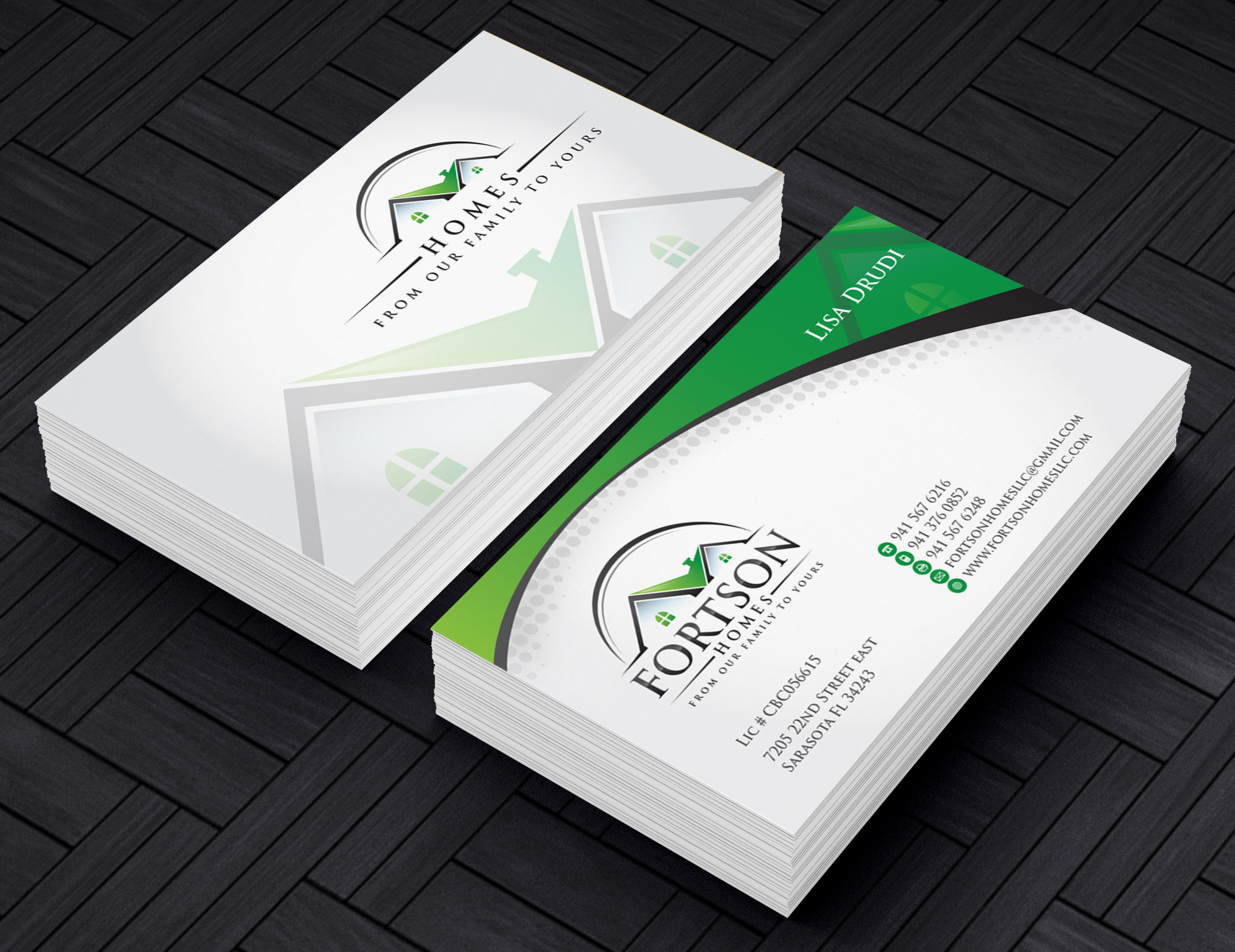 Fortson Homes Stationery / Business cards - Construction
