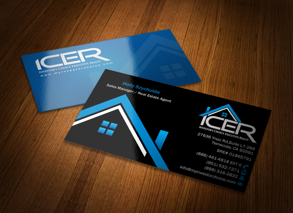 Investor's Choice Executive Realty Business Card - Real Estate