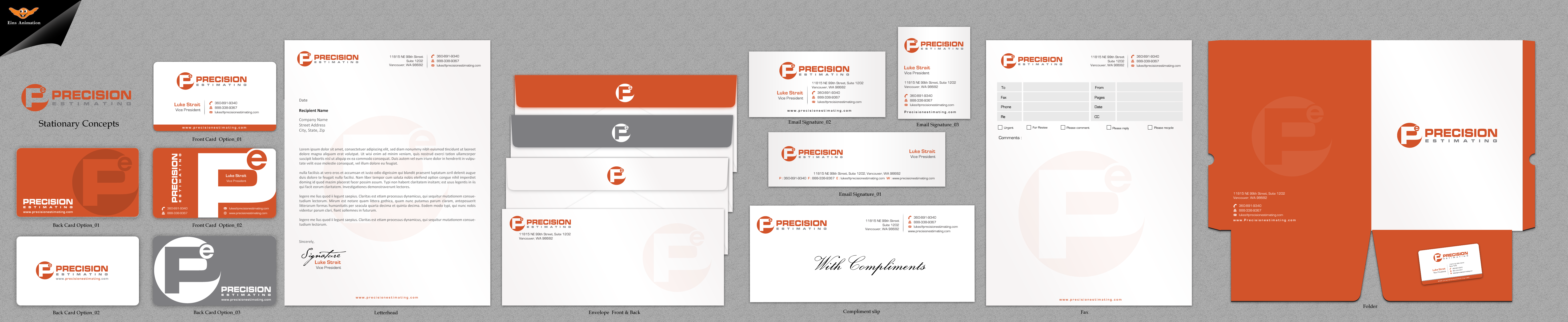 Business Cards and Stationery for Service Co - Construction
