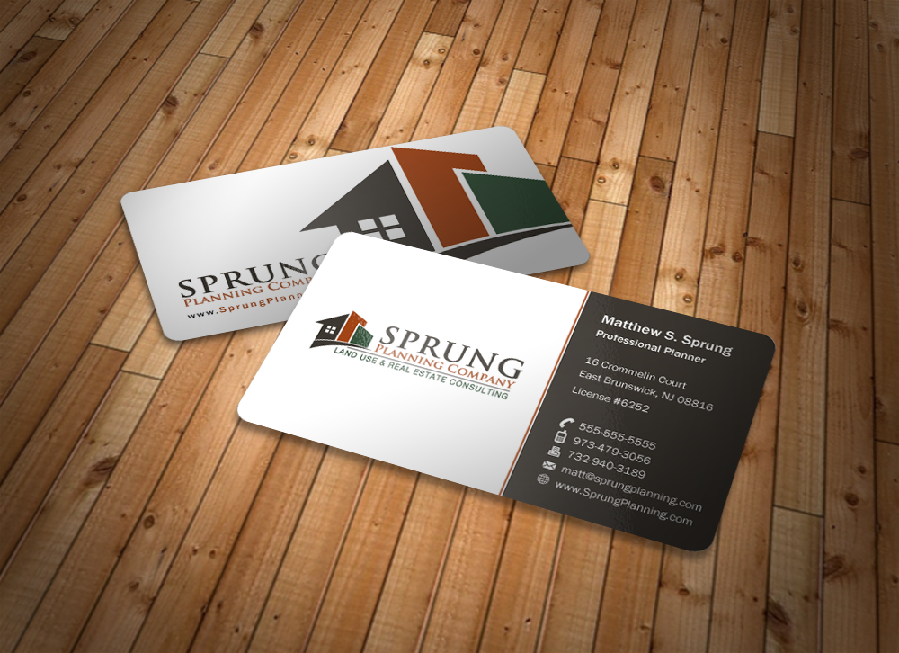Sprung Planning Company Business Cards - Consulting