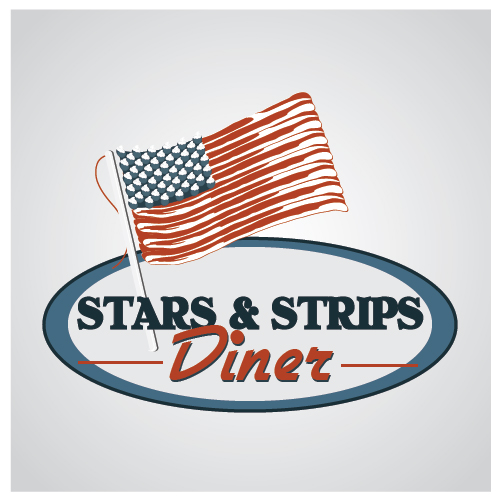Logo for an All American Diner - Food Logo