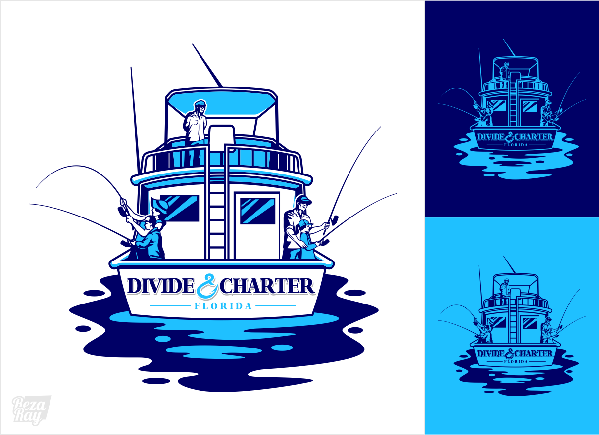 Divide & Charter Logo - Outdoors Logo