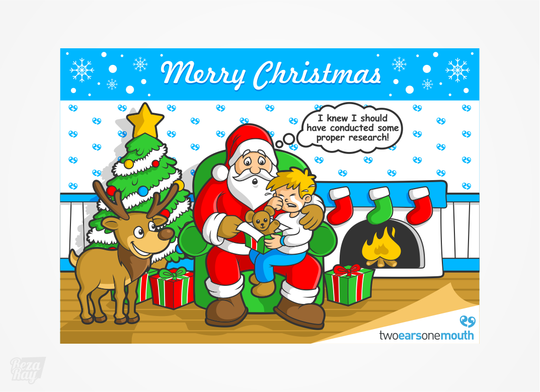 Cartoon Christmas Card - Marketing