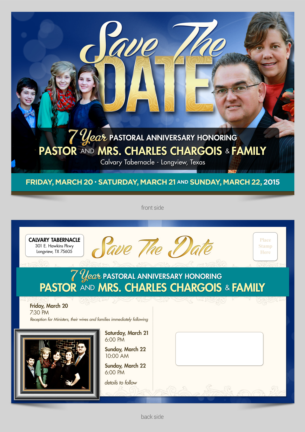 Save the date card design for church anniversery  - Religion and Spirituality
