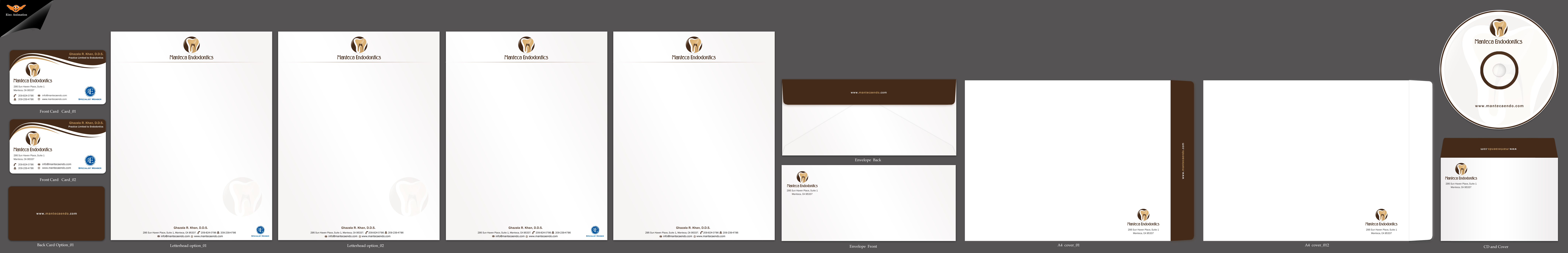 Stationary and Business Card for dental office  - Health