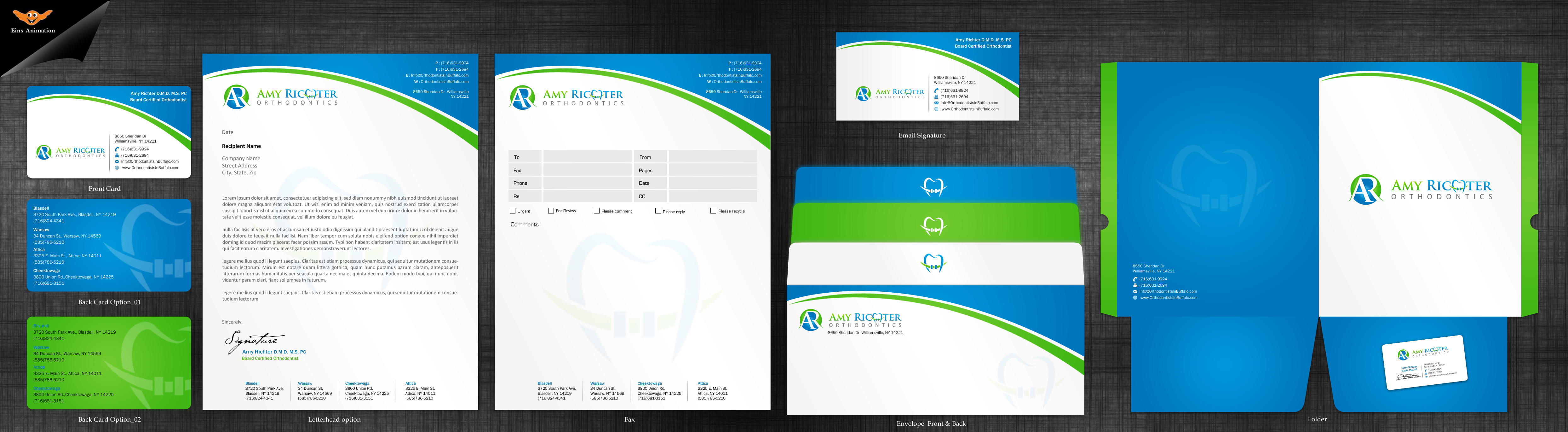 Business Card & Stationary for Orthodontic Office  - Medical