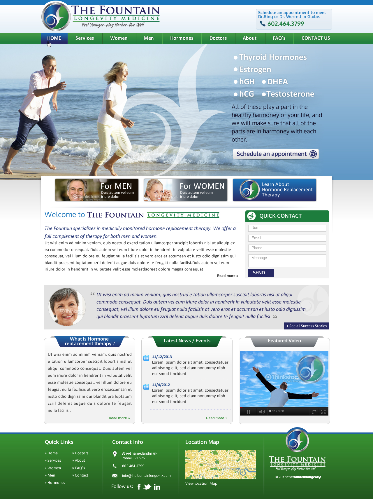 The Fountain Medical Hormone Web Site - Health
