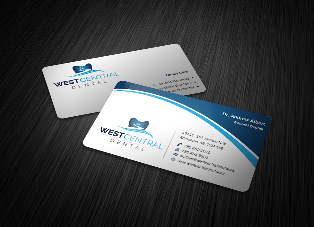 Modern business card and stationary for a dental office - Health