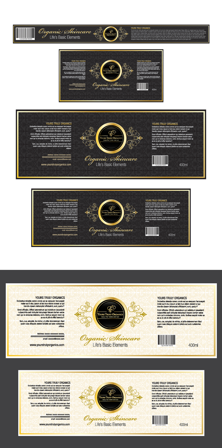 (Expedite)Label designs for luxury organic skincare packaging - Personal Care