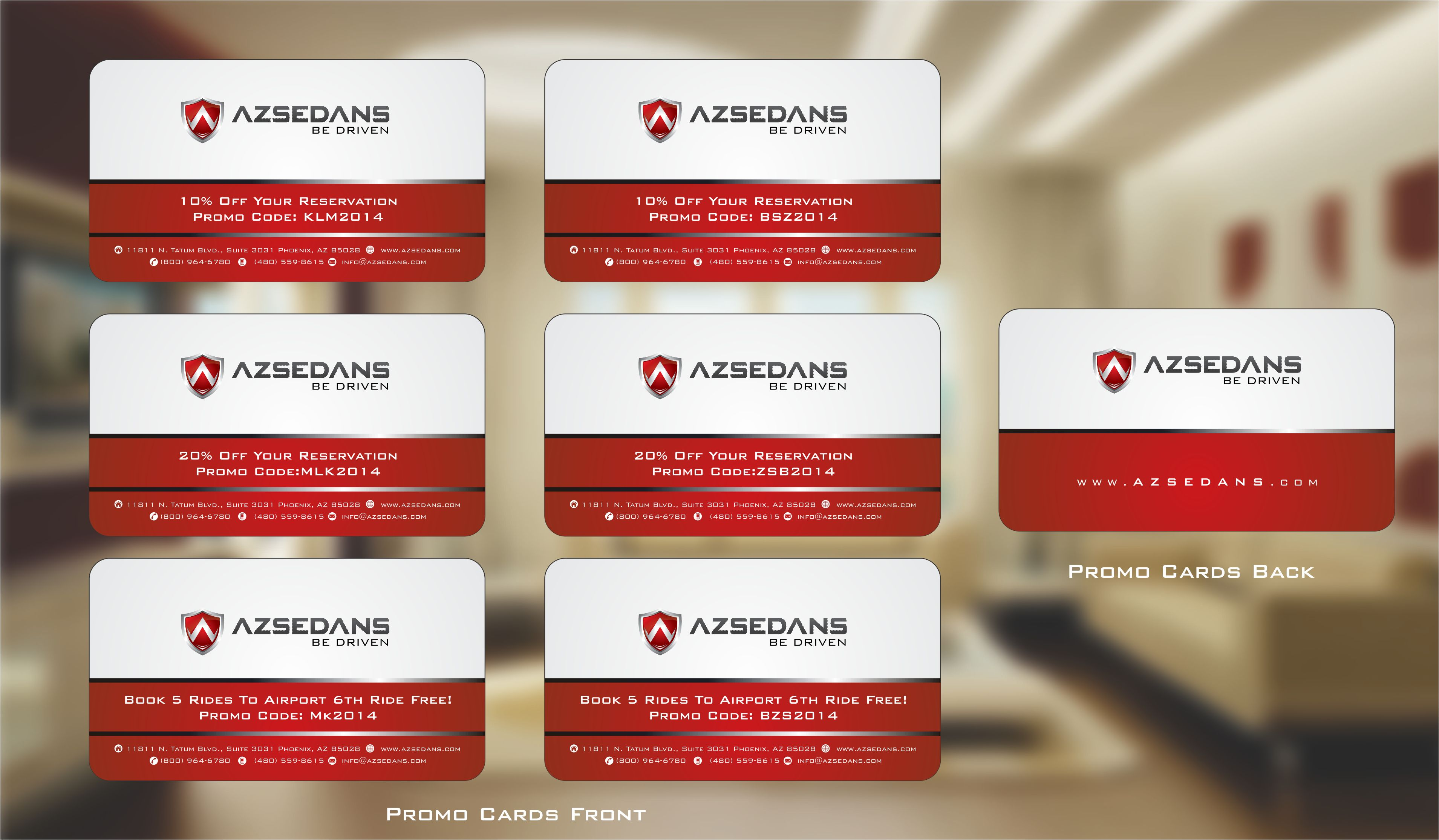 AZ Sedans Bonus Card - Transportation