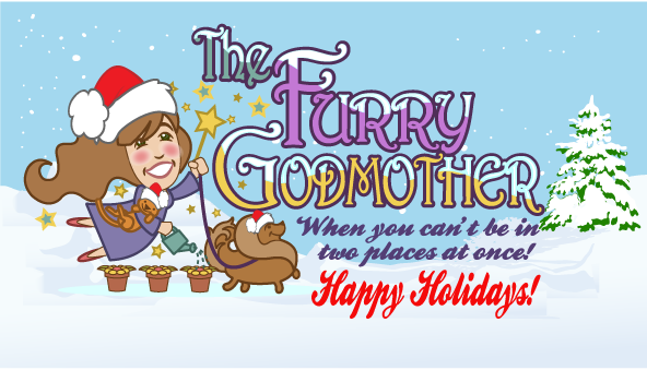 "Holidize our ""The Furry Godmother Pet Sitting"" Logo - Animals Logo"