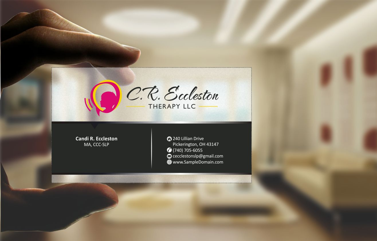 Business Card Design for Private Practice Speech Therapy - Medical