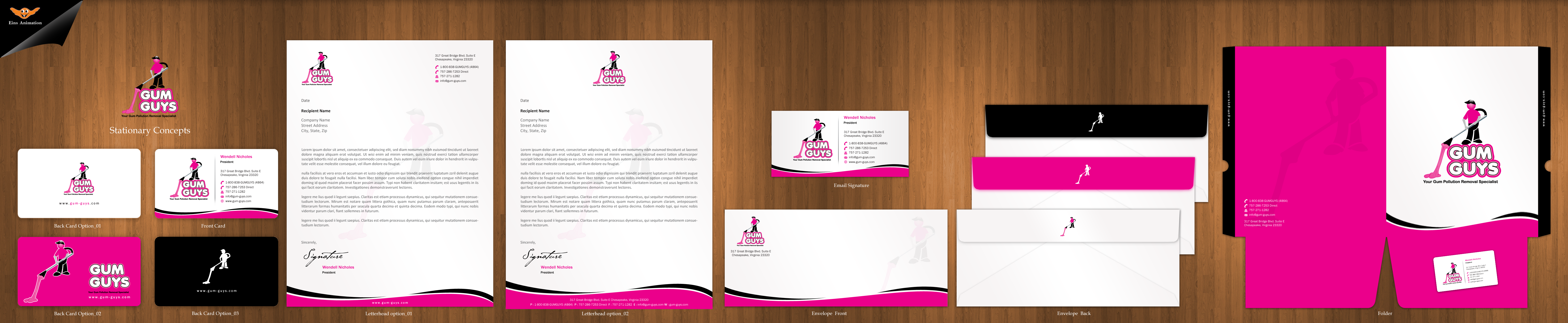*Business Card Concept For Gum (Pollution) Removal Company* - Cleaning