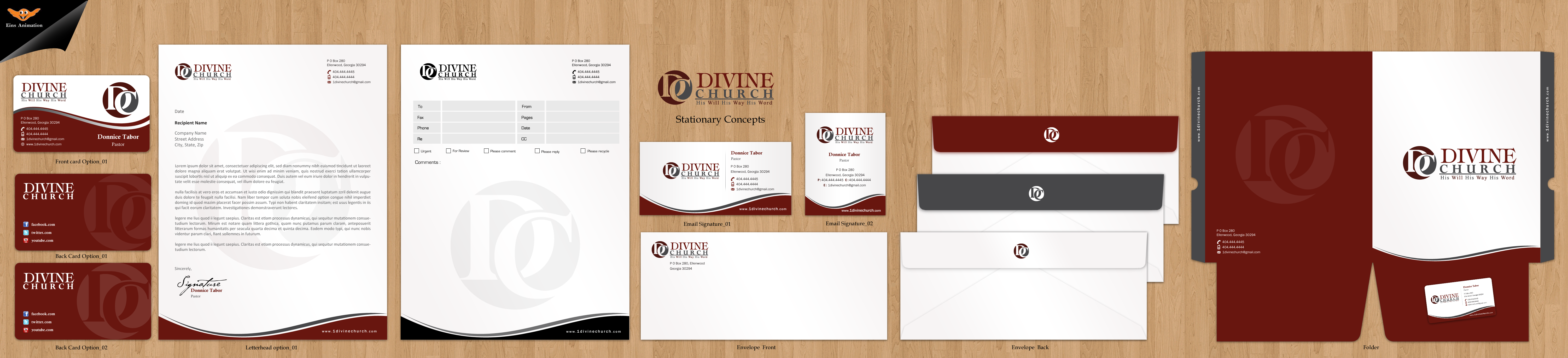 Business Cards and Stationary for Divine Church - Religion and Spirituality