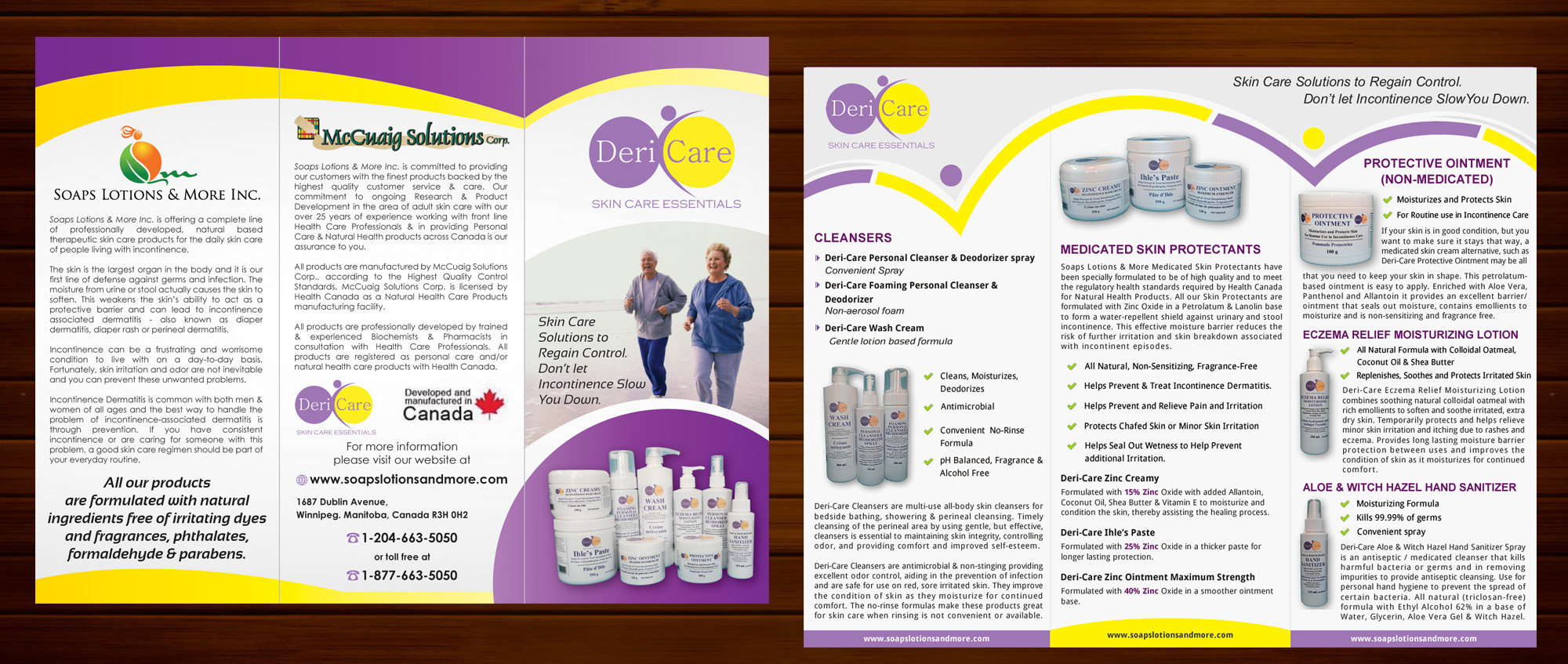 Brochure for Adult Skin Care Products - Personal Care