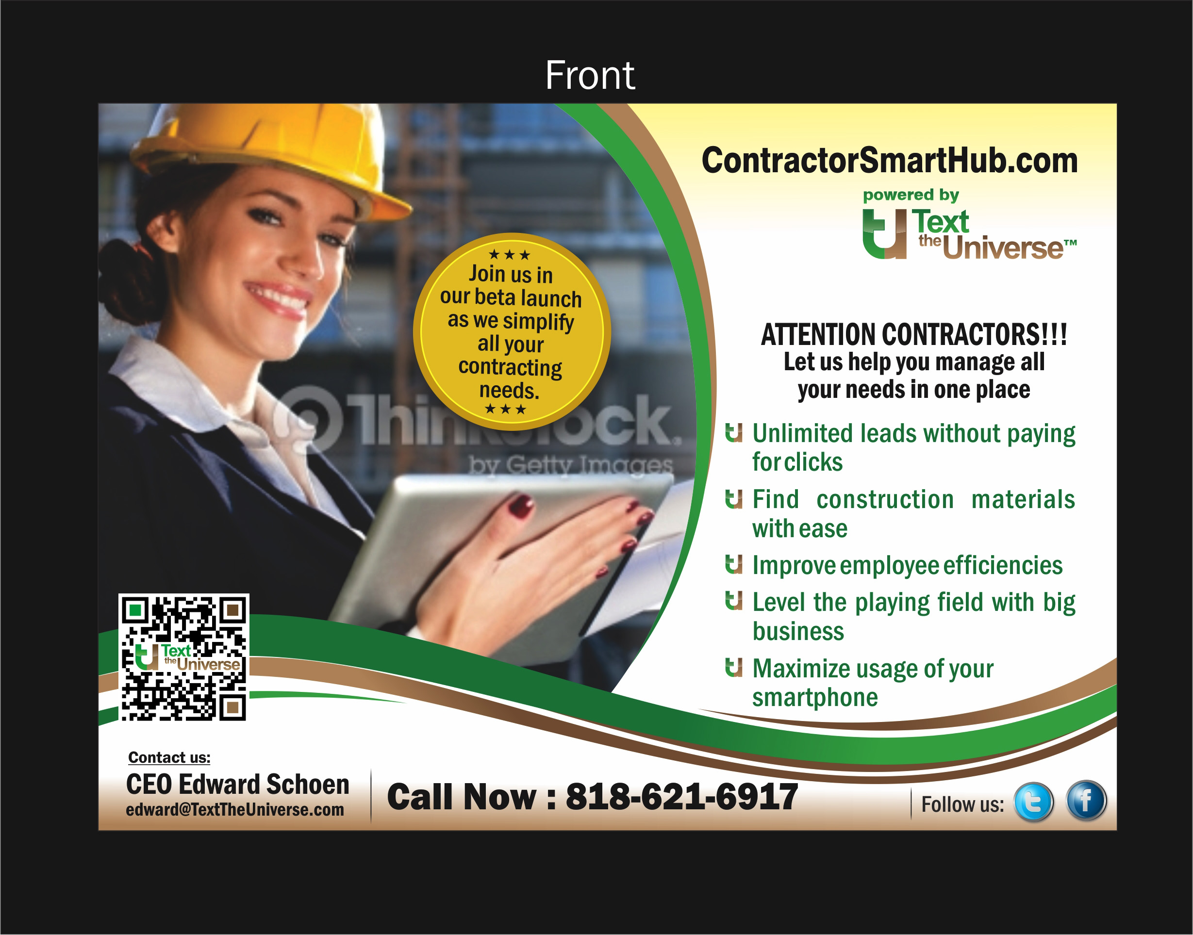 Postcard #2 for web company - Construction