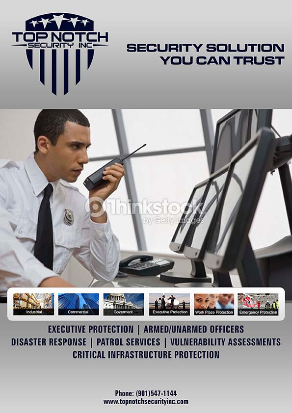 Full page add for Security Guard Company - Security