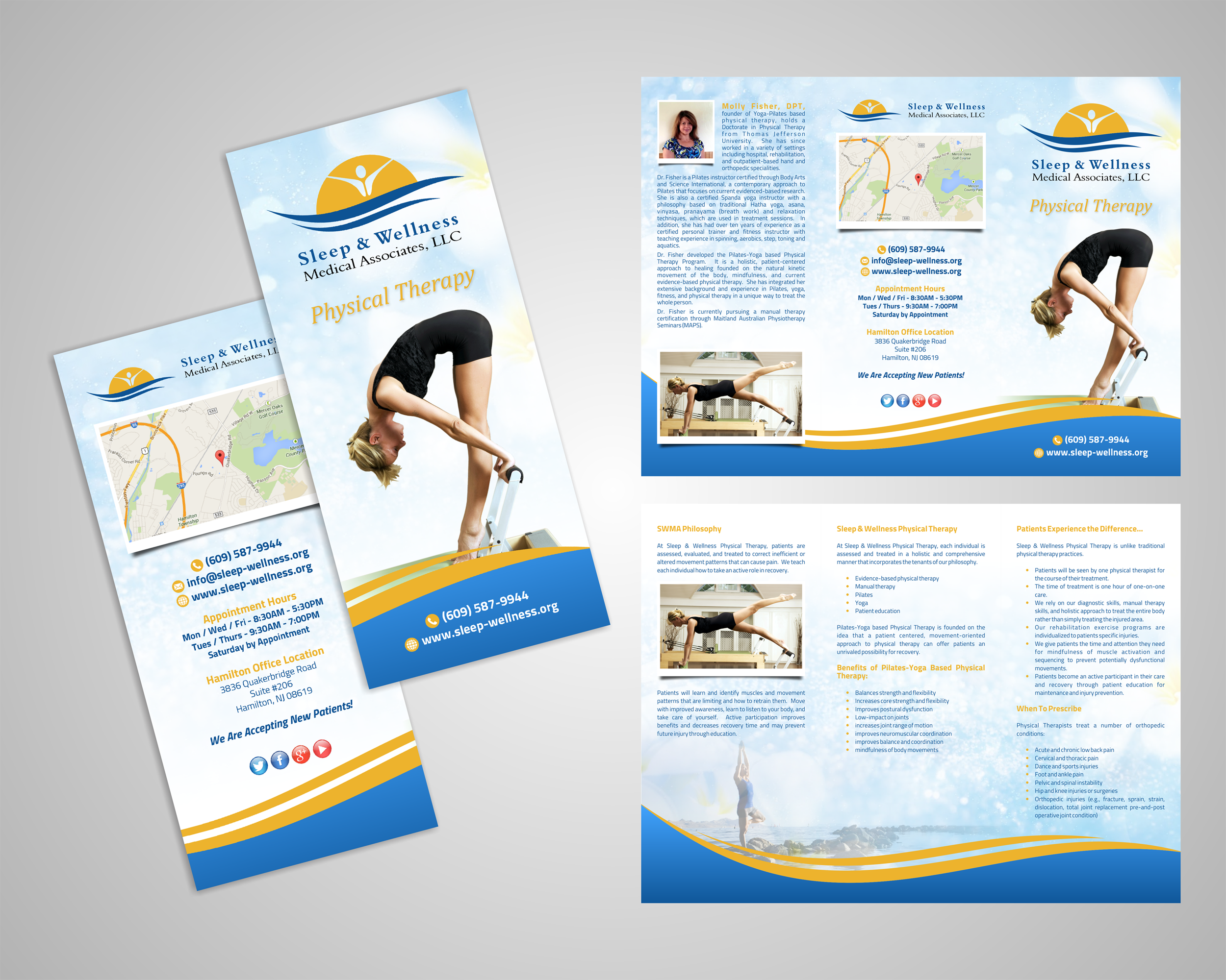 Tri-Fold brochure design for multi-speciality medical practice - Medical