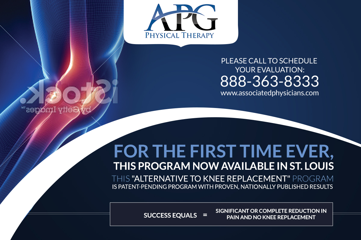 Creve Coeur MO Knee Program Branding Postcard For APG - Health