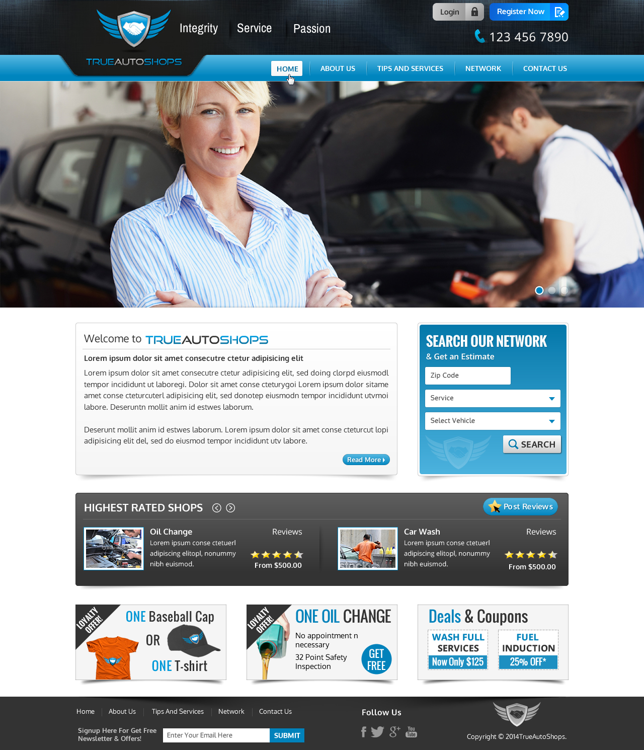 True Auto Shops Web Design - Automotive