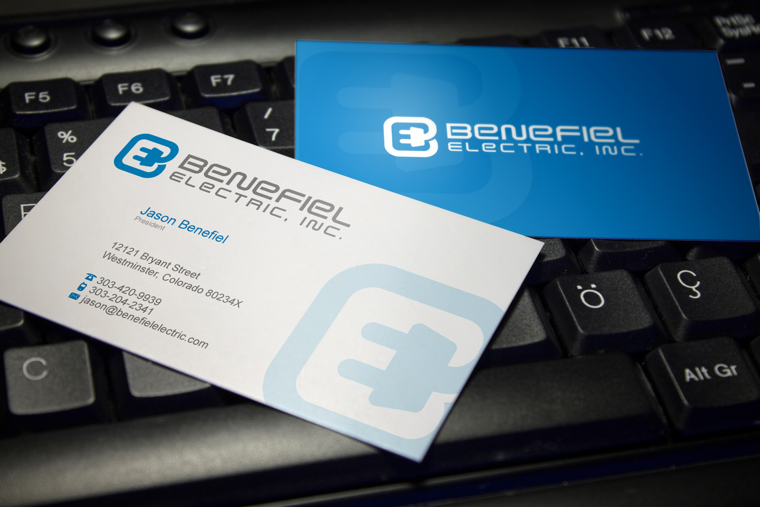 Business Cards/Letterhead for Electrical Contractor - Construction
