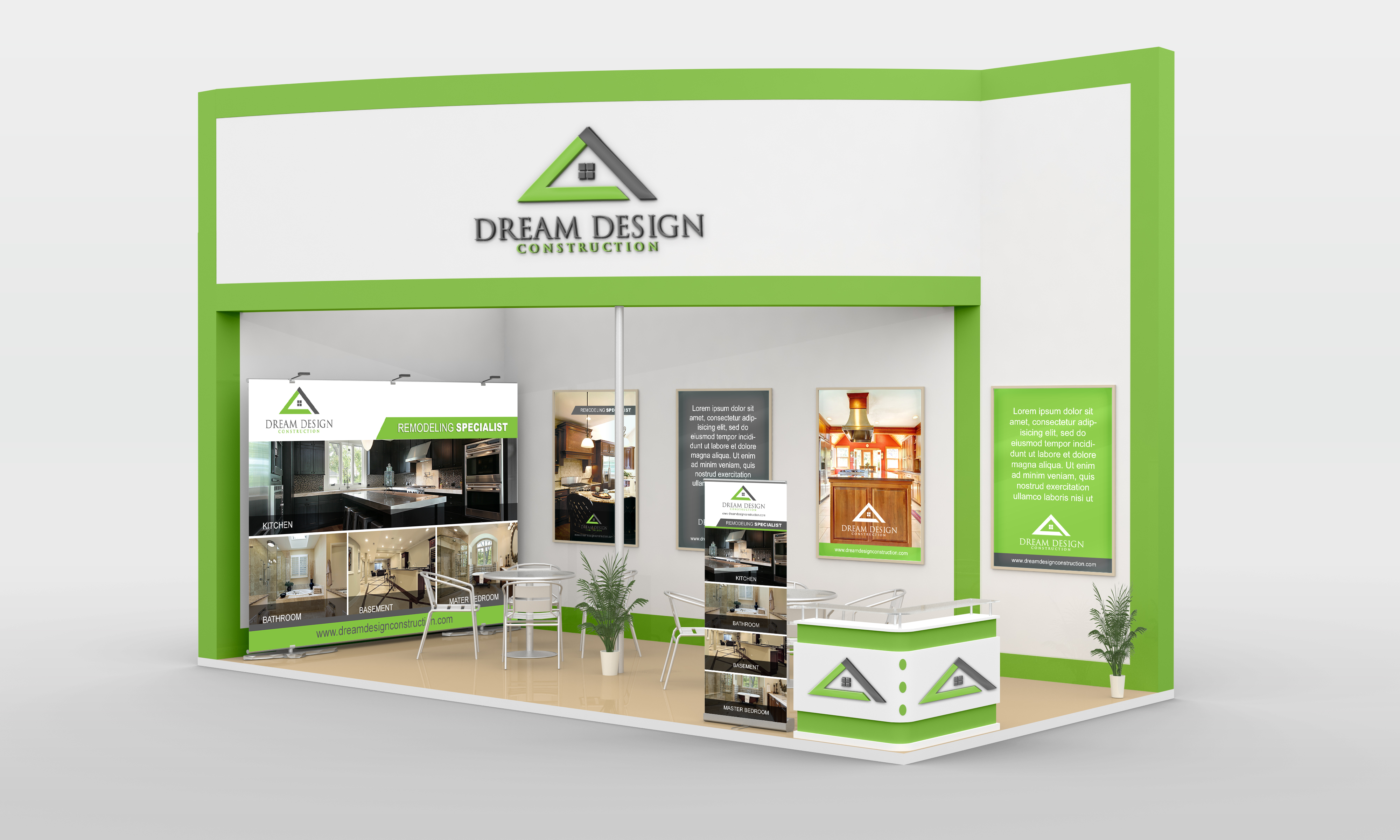 Remodeling Company Trade Show Display - Home and Garden