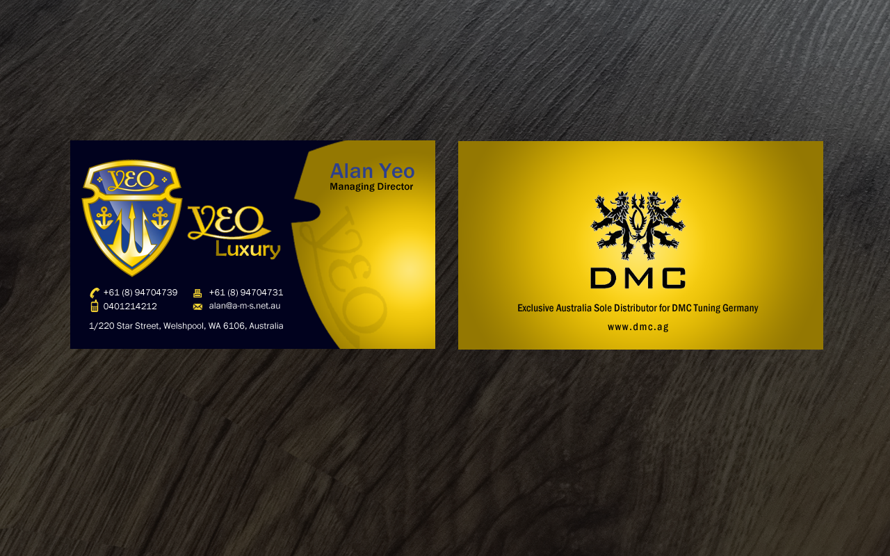 Business card/letter head for a luxury car dealer - Automotive